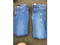 Women's river island jeans size 10 (two pair)