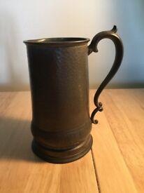 19 th century musical pewter mug