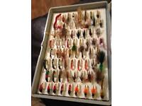 fishing Fox box with about 120 fly/lures