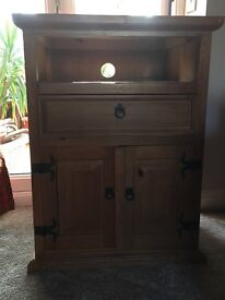 Wooden tv stand cabinet restoration project
