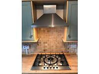 Bosch 5 ring gas hob and extractor