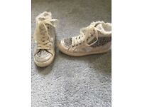 Glittery high tops size 1