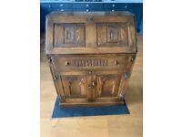 Solid Oak Bureau Desk