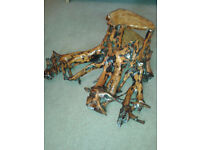 YEW Tree Root Table/Shelf. Handcrafted.New