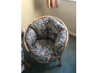 Conservatory Two Seater Sofa with Two Matching Chairs