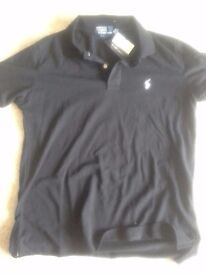 Mens Black Ralph Lauren polo shirt