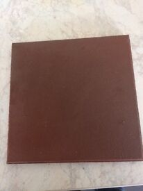 New terracotta coffee coloured tiles 6inch x6 inch 32 in a box 13 boxes left £5 a box
