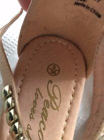 New ladies or girls size 3 sandels , unused for sale