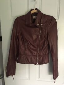 Faux leather jacket ladies