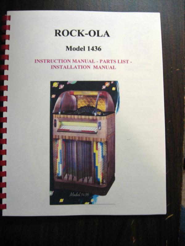Rock-ola 1436 Jukebox Service & Parts Manual