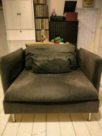 Very large Ikea Armchair - SÖDERHAMN-dark grey
