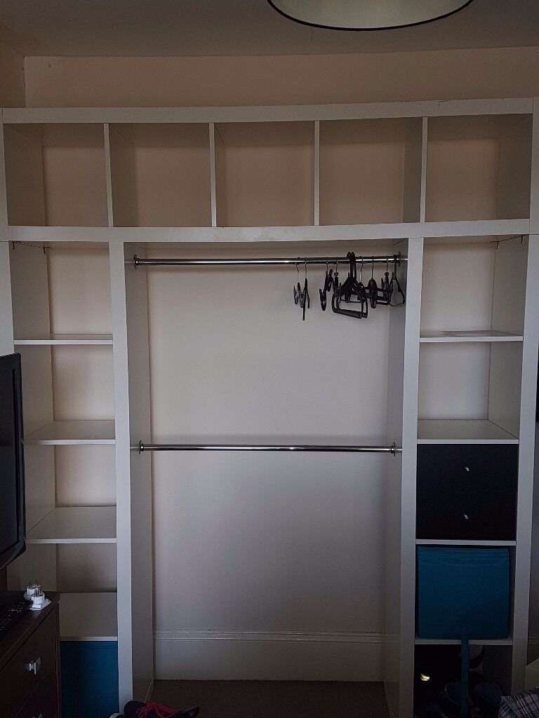ikea kallax expedit white gloss storage hack in crystal. Black Bedroom Furniture Sets. Home Design Ideas