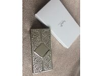 SOPHIA GIFT COLLECTION SILVER PLATED JEWELLERY BOX