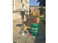 Table Top Patio Heater 4.5kg with Hose and Regulator and a full Calor 13kg Propane Gas bottle