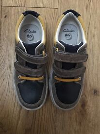 Clarks size 12 and half boys shoes