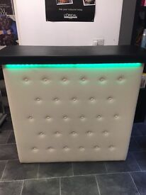 Salon reception desk cushioned leather front . Brill condition .