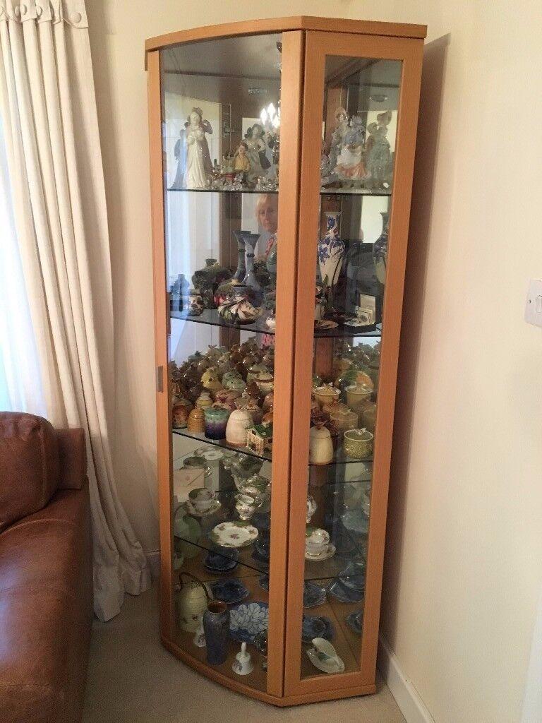 Solid Beech Corner Cabinet