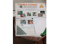 Flexible floor for caravan awning or camping