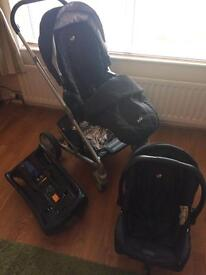 Joie Chrome Stroller with car seat and base PRICE REDUCED