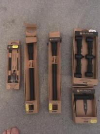 Fox Black Banksticks, 3 rod adjustable buzz bar + more