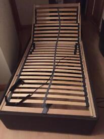 BROWN SINGLE ADJUSTABLE DIVAN BED