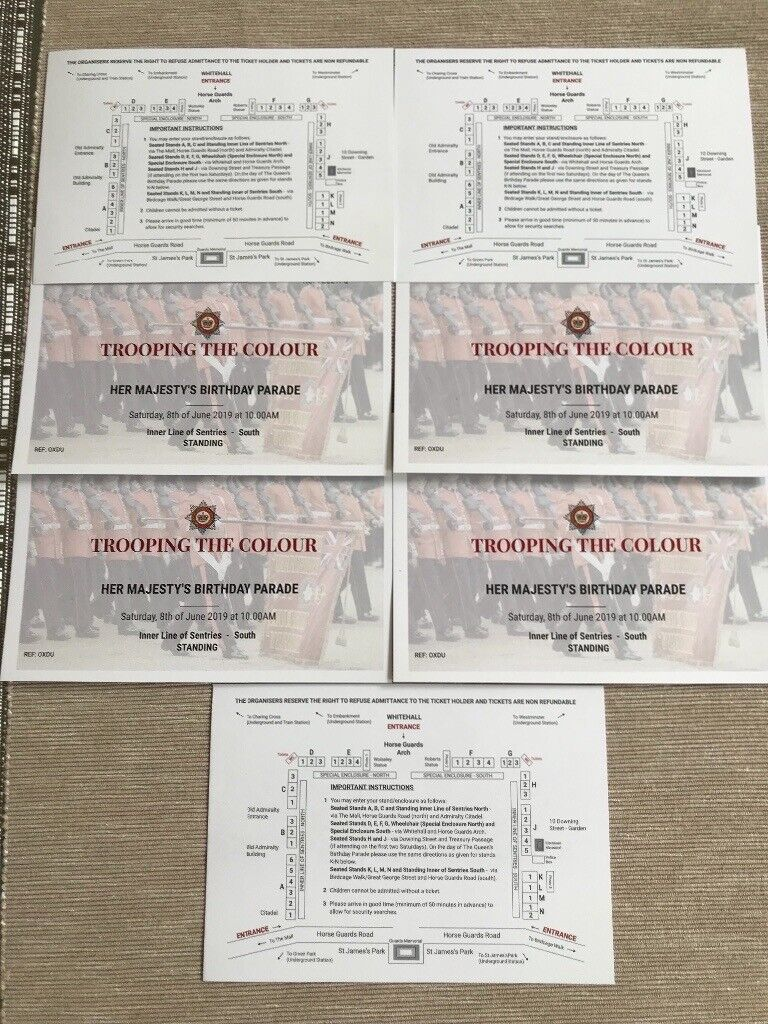 Queens birthday parade tickets (Trooping the colour) | in Westminster,  London | Gumtree