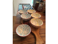 6 Beautiful artsy small bowls - new, excellent condition