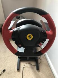 Ferrari steering wheel and pedals