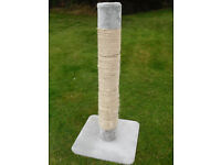 large 4ft high cat scratching post V.G.C.