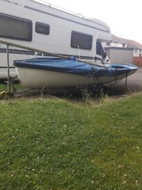16ft sailing boat with trailer