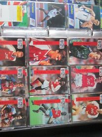 pro set football cards, plus 90 minutes football playing cards(full set)