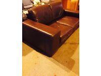 Natuzzi brown leather 3::2:: suite