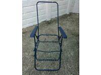 Garden reclining chair frame.