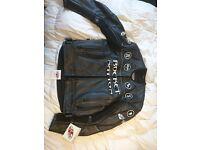 Joe rocket leather jacket size 42 UK. Brand new. Armor on shoulder elbow back. RRP £170