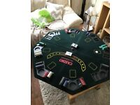 £45 ono Poker table top with chips in good condition