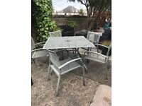 FREE TO UPLIFT - Garden table & 5 matching chairs