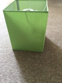 Lime green oblong ceiling lampshade