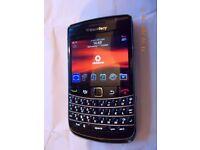 Blackberry mobile phone 9700 on Vodafone