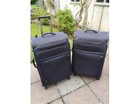 2 Antler expandable super lightweight suitcases size 82cm x 51cm