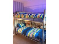 Steel bunk beds grey good condition