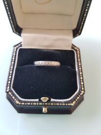 White gold & diamond vintage style ring