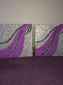 Glitter canvases