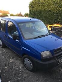 Fiat Doblo van / car (with. Wheel chair ramp)