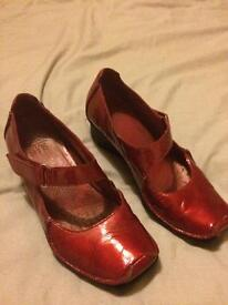 Red clarks shoes size 41/2
