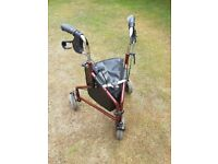 Three wheeled disability walker