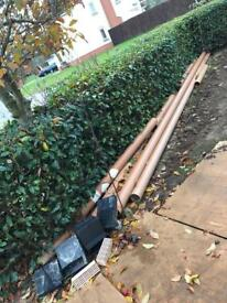 Sewer drainage pipes & telescopic air vents