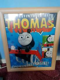 Thomas the tank engine poster and frame