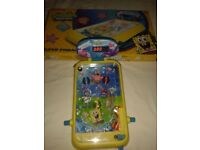 SPONGEBOB LARGE ELECTRONIC PINBALL MACHINE BATTERIES INCLUDED