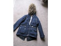 Girls Candy Couture coat with hood for 10 to 11 year old good condition