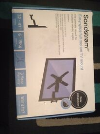 SANDSTRORM TV WALL BRACKET NEW CONDITION EASY-GLIDE FULL MOTION.